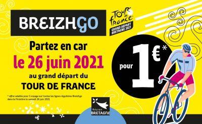 Tour de France vélo Bretagne Finistère départ Brest 2021 breizhgo transport parking